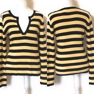 Villager by Liz Claiborne, strip sweater, Sz L